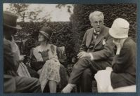 Georgie Yeats on the left, with her husband, 26 years her senior, W.B. Yeats on the right.